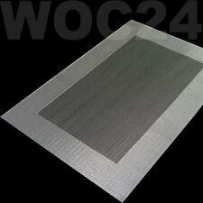 Tischset Platzdeckchen Platzset abwaschbar SILBER-GRAU Kunststoff