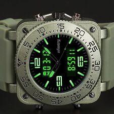INFANTRY Herren Armbanduhr Dual Digital Zone Sportlich Outdoor Army Uhren Männer