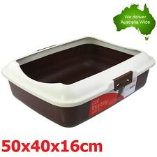 Portable Hooded Cat Kitty Toilet Litter Tray Pet Pan New VIC