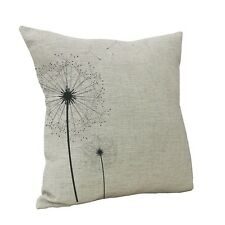 Vintage Dandelion Cotton Linen Throw Pillow Case Sofa Cushion Cover Home Decor