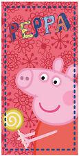 Peppa Pig Strandtuch Handtuch Badetuch Strandhandtuch 100 % Baumwolle 70 x 140