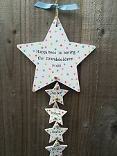 Personalised wood plaque sign gift present nanny Mum Grandchildren grandparent