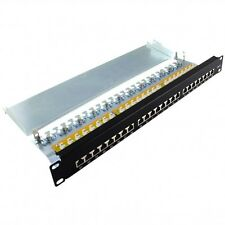 Patchfeld Patchpanel Cat6 24 port schwarz 48,26cm/19""