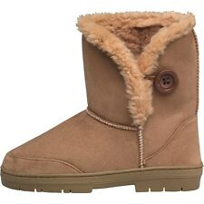 BOARD ANGELS WOMENS CLEAT SOLE BOOTS - CHESTNUT – SIZE 3 - BNIB