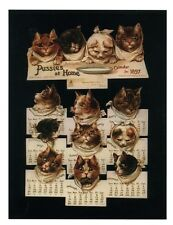 modern cat postcard adorable cats Pussies at Home Calendar 1897