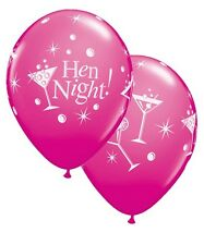 """6 x Hen Party Decoration Girls Night Out Bubbly Martini 11"""" Latex Balloons"""