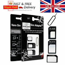 4 IN 1 PACK NANO TO MICRO & STANDARD SIM CARD ADAPTER FOR VARIOUS MOBILE PHONES
