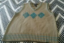 URBAN bt Pumpkin Patch Vest Size 6 8 10 Beige Aqua