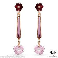 $249 - Rose gold plated Solid Sterling Silver CZ & simulated Amethyst earrings