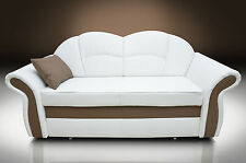 BONDED LEATHER! NEW MODEL, SOFA BED  2 SEATER ROMERO WITH HIDDEN BED! COLOURS
