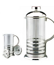 800ml / 8-cup Stainless Steel Glass Cafetiere French Filter Coffee Press Plunger