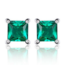 Jewelrypalace 0.6ct Russian Nano Emerald 925 Sterling Silver Stud Earrings