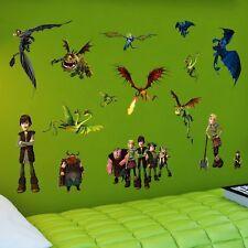 Wandtattoo Wandaufkleber Drachenzähmen Drachen Dragon Wall Sticker Kinderzimmer