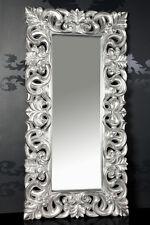 XXXL Wandspiegel Spiegel Repro Barock Antik Rechteckig Replike 180 x 90 A.Silber