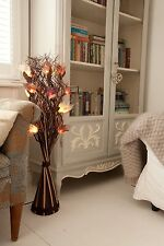 Indoor Interior Flower Bouquet Wave Vase Lamp Lighting, 95cm, Floor or Table Top