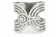 SIZE 9 SOLID 925 STERLING SILVER CZ *STUNNING STATEMENT* LADIES DRESS RING BAND