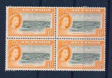 ASCENSION 1956 DEFINITIVES SG59 1½d BLOCK OF 4 MNH