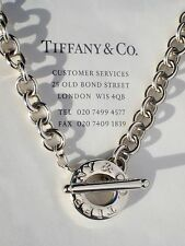 Tiffany & Co Sterling Silver Toggle Necklace