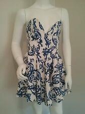Ladies WHITE CLOSET strapless mini party dress size 12 10