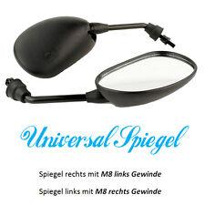 Spiegel SET Spiegelset universal für Roller M8 Gewinde rechts links NEU