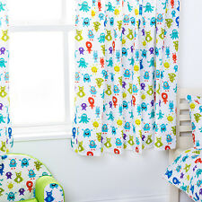 "Monsters Aliens Children's Kids Curtains 66""x54"" Tiebacks Nursery Bedding Blinds"