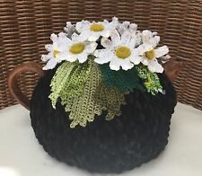 NEW  Handmade Tea Cozy Black And White From Ukrainian Designer
