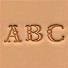 """Fancy Alphabet Leather Stamp Set - 3 8"""" (1 Cm) Emboss Stamping Tool Tandy"""