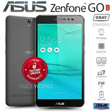 "New Unlocked ASUS Zenfone GO ZB690KG Grey 6.9"" IPS LCD Android Mobile Phone"