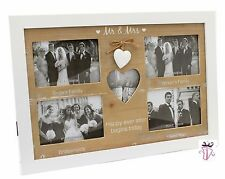 Mr & Mrs Modern Shabby Chic Picture Collage Gallery Photo Frame Wedding Present