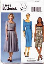 BUTTERICK SEWING PATTERN 5984 MISSES SZ 16-24 RETRO STYLE DRESSES IN PLUS SIZES