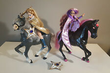 Golden Girls MOTH LADY & SAPHIRE w/ SHADOW Mount (lights up) - 1984 Galoob Toys