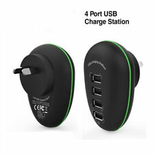 Portable 4 Port AC USB Wall Charger iPad iPhone Android Tablet AU Plug