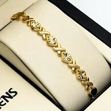 """New 18K Yellow Gold Filled Womens Bracelet 7.3"""" Chain Charm Link Unique Jewelry"""
