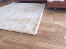 Luxus Hochflor- Patchwork Teppich aus Schafwolle - 200 cm x 150 cm