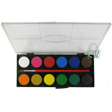 Faber Castell Watercolour 12 Large Pan Paint Set. Includes free brush.