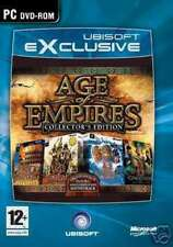 """AGE OF EMPIRES 1 & 2 COLLECTORS EDITION - PC DVD """" NEW, SEALED"""""""