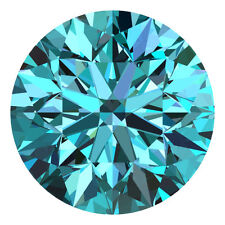 1.6 MM CERTIFIED Round Fancy Blue Color VS 100% Real Loose Natural Diamond #B