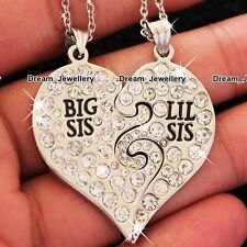 BLACK FRIDAY DEALS Crystal Heart Necklaces For Sisters & Friends Xmas Gifts BD3