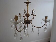 3 Arm Glass Crystal Chandelier Ceiling Light
