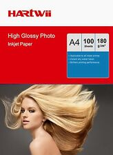 Hartwii 100 Sheets A4 180 Gsm High Glossy Photo Paper  Inkjet  Paper Printing AU