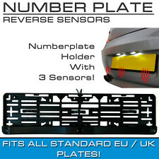Number Plate Mount Reversing Parking Rear Sensor Three Sensors Audio Buzzer DIY