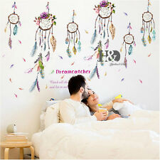 Colorful Chimes Feather Mural Wall Stickers Removable Art Kids Decals Room Decor