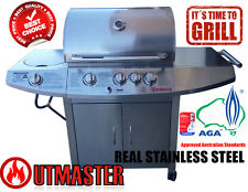 100% Stainless Steel BBQ 5 Burner Outdoor Barbeque Gas Grill Cover