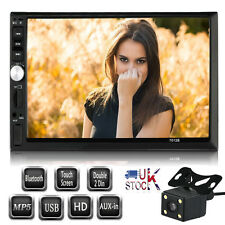"""7"""" Double 2Din Car Stereo MP5 Player Bluetooth Screen Radio USB/TF/AUX/HD+CAMERA"""