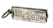 VINTAGE SILVER BANK OF ENGLAND CHEQUE BOOK CHARM