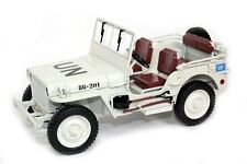 1:18 Welly 1944 Willys Jeep UN 1/4 TON 1942-1945 weiss white
