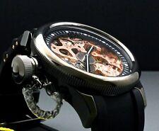 Invicta 1847 Men's Russian Diver Mechanical Rose Gold Tone Black PU Strap Watch