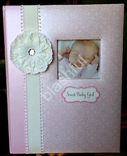 CR Gibson Pink White Flower Bella Sweet Baby Girl Memory Keepsake Book 1st 5 Yrs