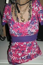 VERO MODA Shirt Top Gr. S pink/flieder  Blumen