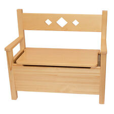 Children's Furniture Bench Storage Toy Box, Pine Wood